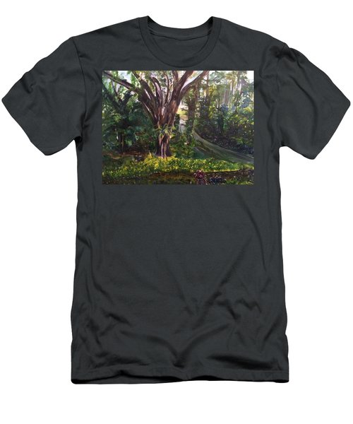 Somewhere In The Park Men's T-Shirt (Slim Fit) by Belinda Low
