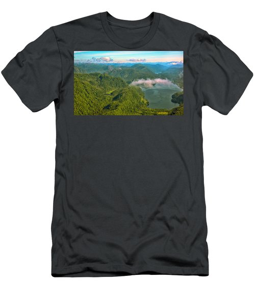 Men's T-Shirt (Slim Fit) featuring the photograph Over Alaska - June  by Madeline Ellis