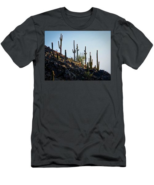 Sonoran Desert Saguaro Slope Men's T-Shirt (Athletic Fit)