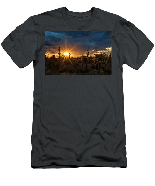 Men's T-Shirt (Athletic Fit) featuring the photograph Sonoran Gold At Sunset  by Saija Lehtonen