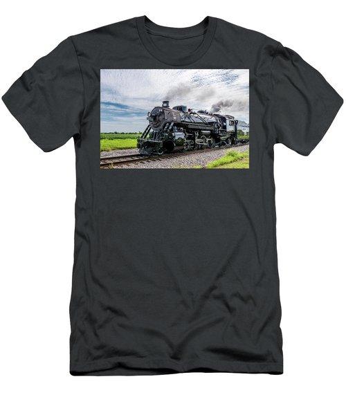 Men's T-Shirt (Athletic Fit) featuring the photograph Soo 1003 At Darien 2 by Randy Scherkenbach
