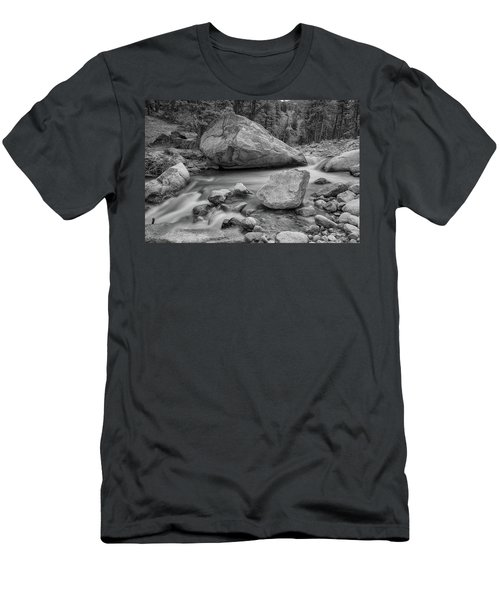 Soothing Colorado Monochrome Wilderness Men's T-Shirt (Slim Fit) by James BO Insogna