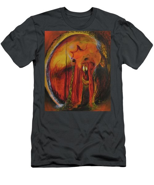 Men's T-Shirt (Slim Fit) featuring the painting Sorcerer's Gate by Christophe Ennis