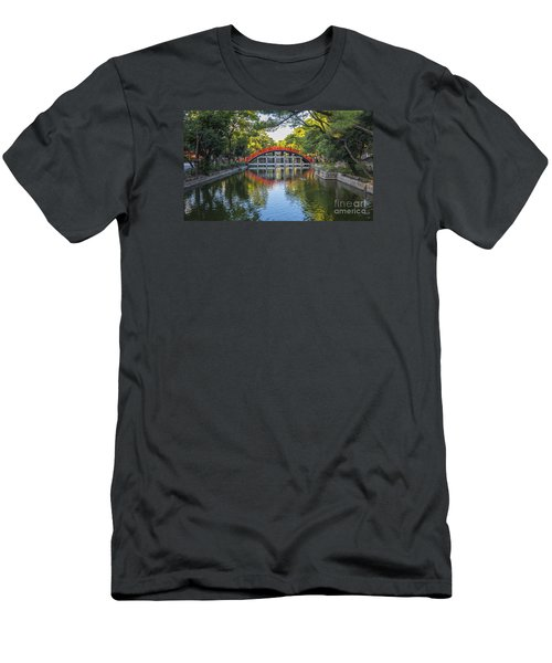 Men's T-Shirt (Slim Fit) featuring the photograph Sorihashi Bridge In Osaka by Pravine Chester