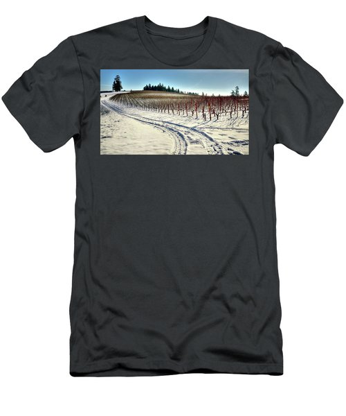 Soter Vineyard Winter Men's T-Shirt (Slim Fit) by Jerry Sodorff