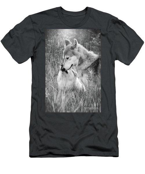 Soul Mates Black And White Men's T-Shirt (Athletic Fit)