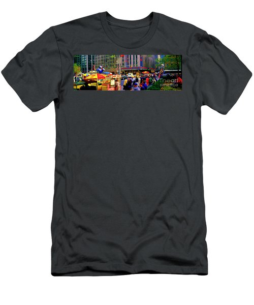 Men's T-Shirt (Athletic Fit) featuring the photograph Soups On Radio City Music Hall  by Tom Jelen