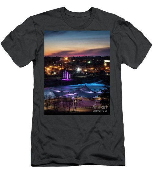 Men's T-Shirt (Slim Fit) featuring the photograph South Bend River Sunrise by Brian Jones