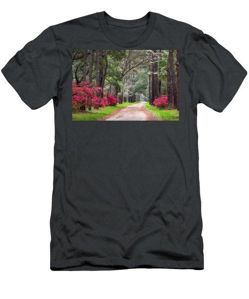South Carolina Lowcountry Spring Flowers Dirt Road Edisto Island Sc Men's T-Shirt (Athletic Fit)