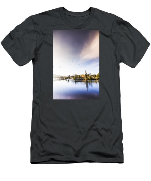 Men's T-Shirt (Athletic Fit) featuring the photograph South-east Tasmania River Landscape by Jorgo Photography - Wall Art Gallery