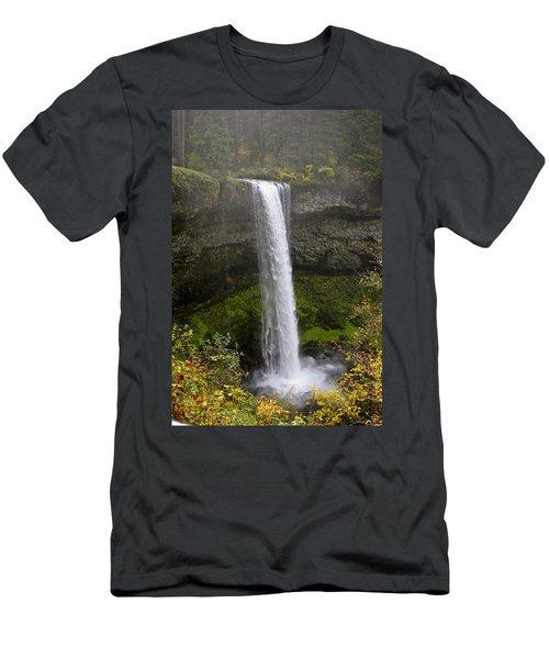 South Falls Of Silver Creek II Men's T-Shirt (Athletic Fit)