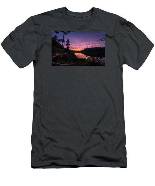 South Shore Lake Dillon Sunset Men's T-Shirt (Slim Fit) by Michael J Bauer