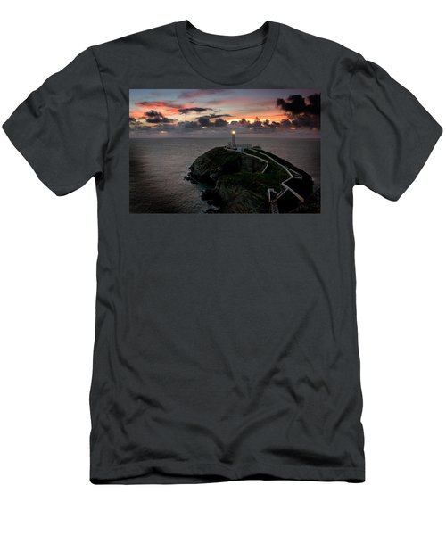 South Stack At Sunset Men's T-Shirt (Athletic Fit)