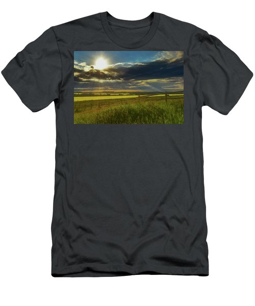 Southern Alberta Crop Land Men's T-Shirt (Athletic Fit)