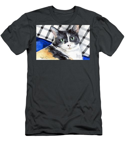 Southpaw - Calico Cat Portrait Men's T-Shirt (Athletic Fit)