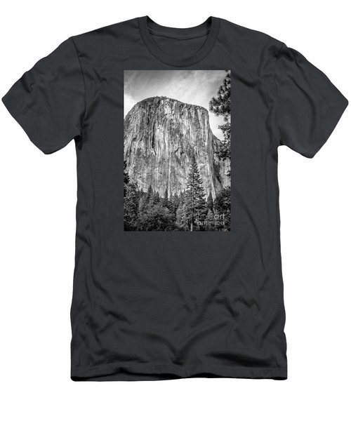 Southwest Face Of El Capitan From Yosemite Valley Men's T-Shirt (Athletic Fit)