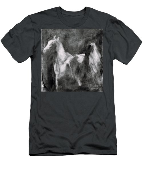 Men's T-Shirt (Slim Fit) featuring the painting Southwest Horse Sketch by Frances Marino