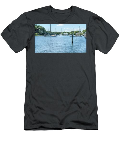 Men's T-Shirt (Athletic Fit) featuring the photograph Spa Creek In Blue by Charles Kraus