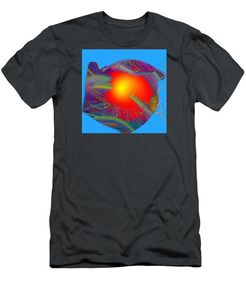 Space Fabric Men's T-Shirt (Slim Fit) by Kevin Caudill