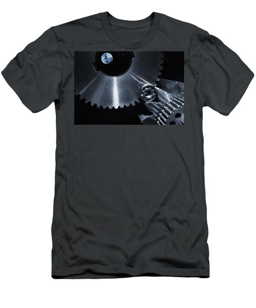 Space Technology And Titanium Parts Men's T-Shirt (Slim Fit) by Christian Lagereek