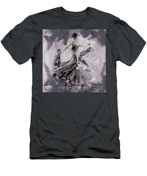 Men's T-Shirt (Slim Fit) featuring the painting Spanish Dance Painting 03 by Gull G