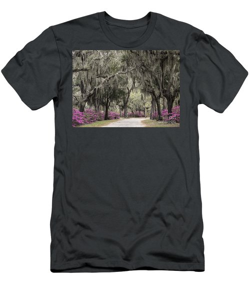 Spanish Moss And Azalea Bushes Men's T-Shirt (Athletic Fit)