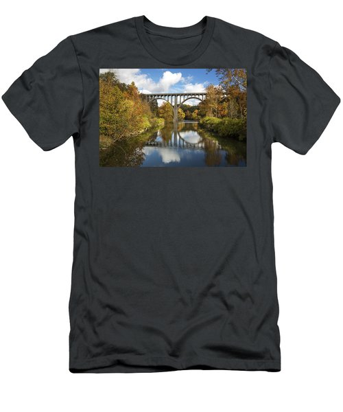 Spanning The Cuyahoga River Men's T-Shirt (Athletic Fit)