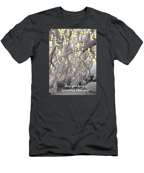 Men's T-Shirt (Slim Fit) featuring the photograph Sparkling Christmas Card by R  Allen Swezey