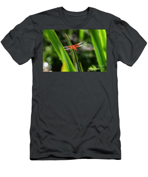 Sparkling Red Dragonfly Men's T-Shirt (Athletic Fit)
