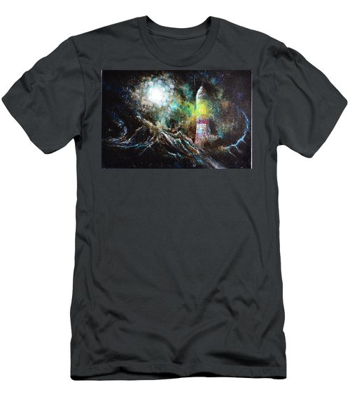 Men's T-Shirt (Slim Fit) featuring the painting Sparks - The Storm At The Start by Sandro Ramani