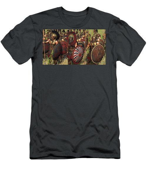 Spartan Warriors Before The Battle Men's T-Shirt (Athletic Fit)
