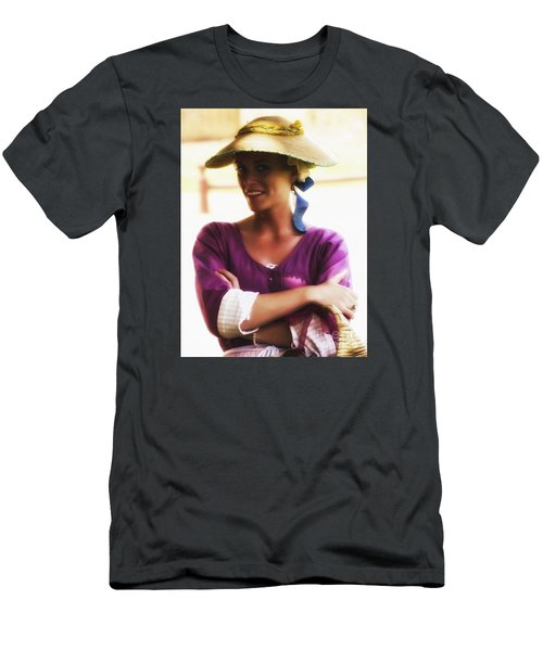 Speaking With Her Eyes  ... Men's T-Shirt (Athletic Fit)