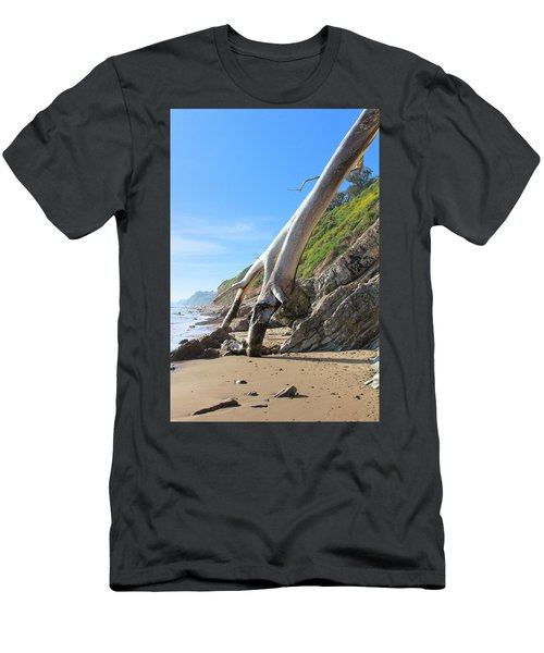 Men's T-Shirt (Slim Fit) featuring the photograph Spears On The Coast by Viktor Savchenko