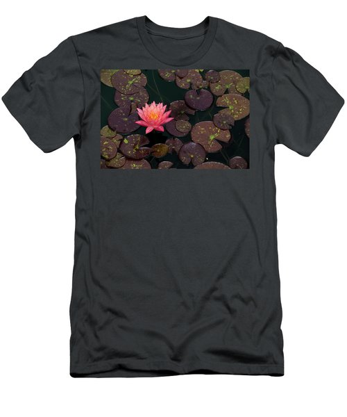 Speckled Red Lily And Pads Men's T-Shirt (Athletic Fit)