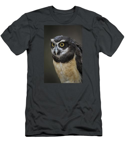 Men's T-Shirt (Slim Fit) featuring the photograph Spectacled Owl by Tyson and Kathy Smith
