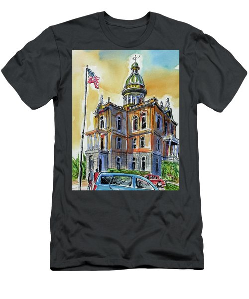 Spectacular Courthouse Men's T-Shirt (Athletic Fit)