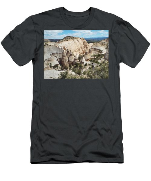Spectacular Slot Canyon Trail View-at-the-top Men's T-Shirt (Slim Fit) by Cindy Croal