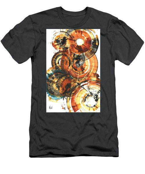 Men's T-Shirt (Athletic Fit) featuring the painting Sphere Series 1022.050212 by Kris Haas