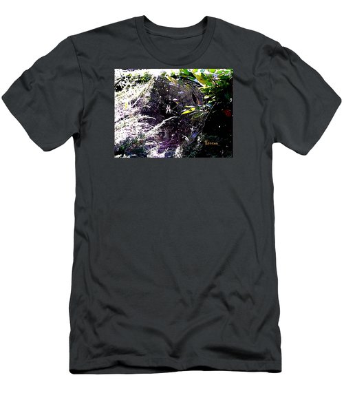Men's T-Shirt (Slim Fit) featuring the photograph Spider And Web 2 by Sadie Reneau