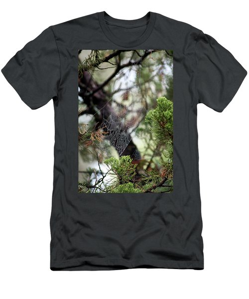 Men's T-Shirt (Athletic Fit) featuring the photograph Spider Web In Tree by Willard Killough III