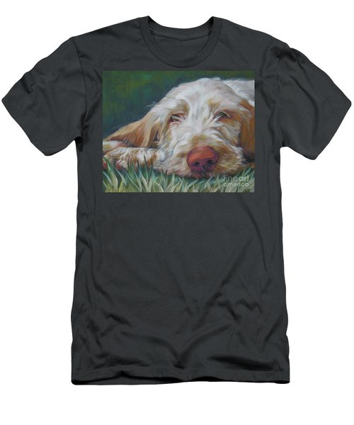 Spinone Italiano Orange Men's T-Shirt (Slim Fit) by Lee Ann Shepard