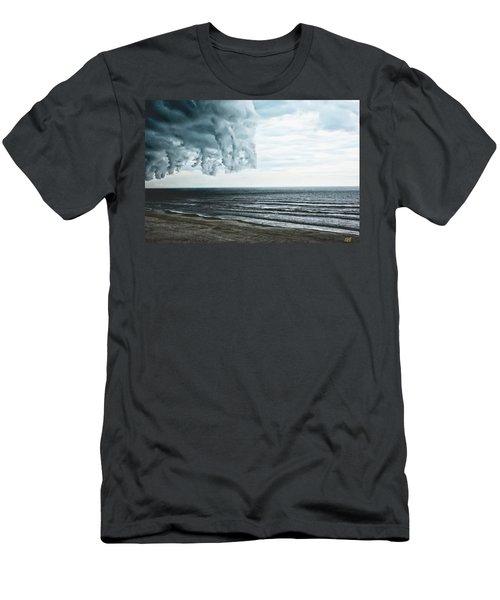 Spiraling Storm Clouds Over Daytona Beach, Florida Men's T-Shirt (Athletic Fit)