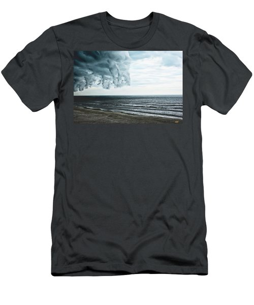 Spiraling Storm Clouds Over Daytona Beach, Florida Men's T-Shirt (Athletic Fit)
