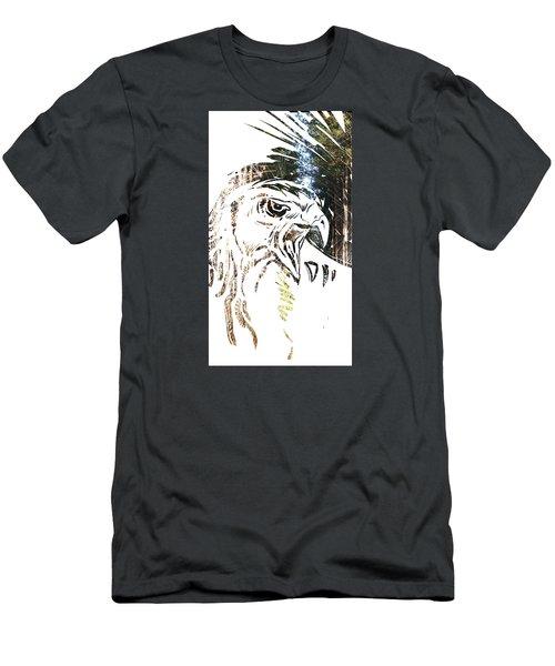 Spirit Animal . Hawk Men's T-Shirt (Slim Fit) by John Jr Gholson