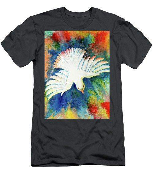 Men's T-Shirt (Athletic Fit) featuring the painting Spirit Fire by Nancy Cupp