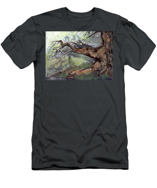 Men's T-Shirt (Slim Fit) featuring the painting Spirit Tree by Sherry Shipley