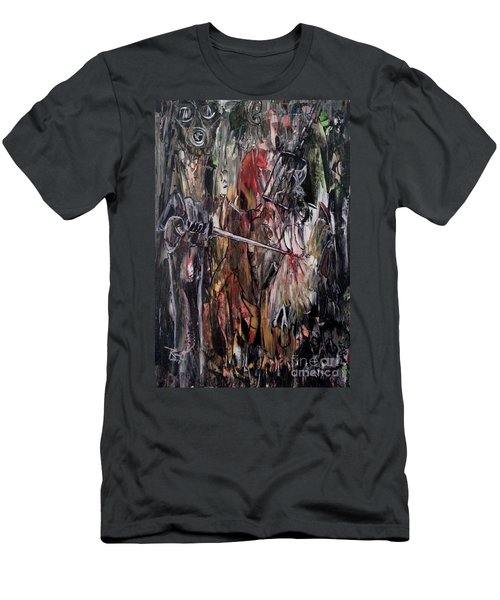 Men's T-Shirt (Athletic Fit) featuring the painting Spiritual Void by Reed Novotny
