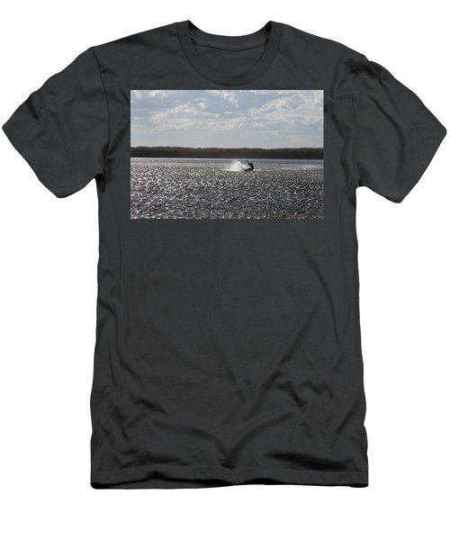Men's T-Shirt (Athletic Fit) featuring the photograph Splash At Lake Wollumboola by Miroslava Jurcik