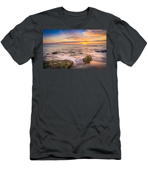 Splashing Waves. Men's T-Shirt (Athletic Fit)