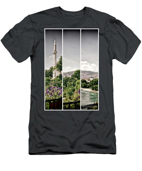Split Landscape Men's T-Shirt (Athletic Fit)